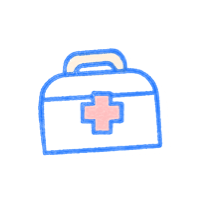 Medical kit bag. Illustration.