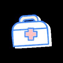 Medical kit bag. Illustration.