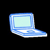 Open laptop. Illustration.