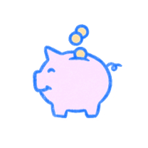 Pink piggybank. Illustration.