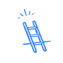 Ladder. Illustration.
