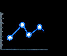 A line graph. Illustration.
