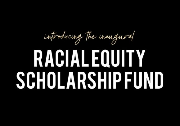 White text on black background announcing the Pocket Prep Racial Equity Scholarship Fund.