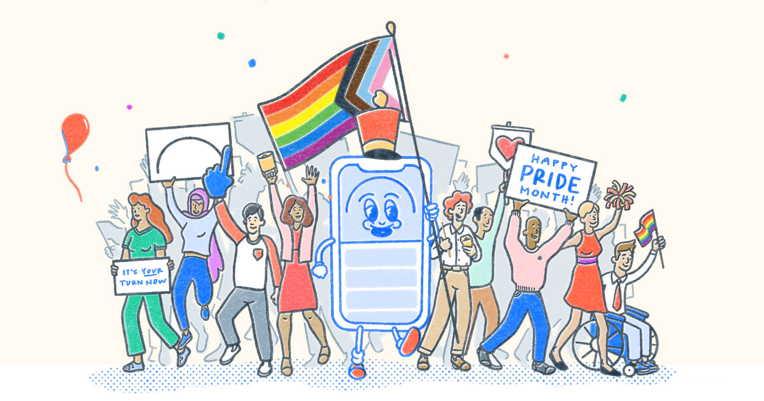 Pocket Prep parade celebrating Pride Month.