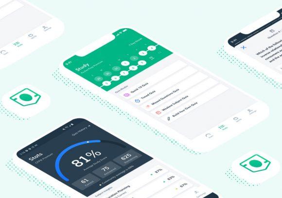 Pocket Prep's Finance study app shown on two phone screens