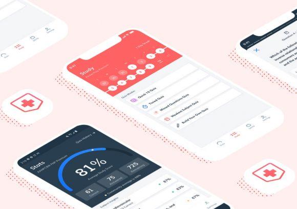 Pocket Prep's Nursing study app shown on two phone screens